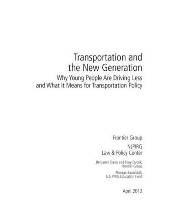Transportation and the New Generation
