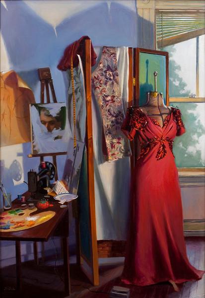 """Majeska"" (oil on Belgian linen) by Lydia Martin"
