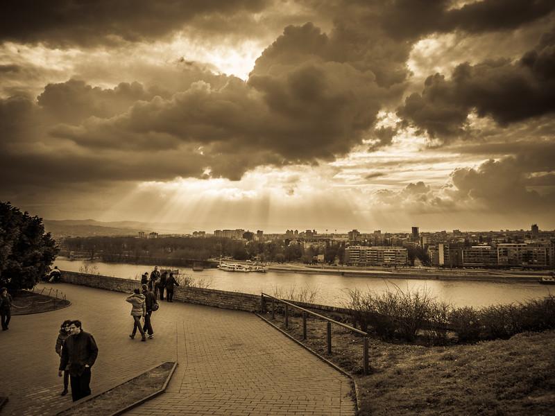 Novia Sad seen from Petrovaradin Fortress.