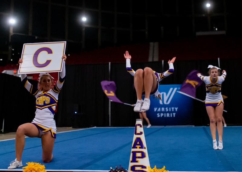 Broughton cheerleading Pre-States. November 16, 2019. D4S_1750