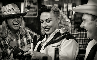 Hoedown 2014 - the people n stuff in black n white