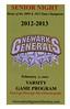 2013-02-07 Newark Generals Hockey Senior Night