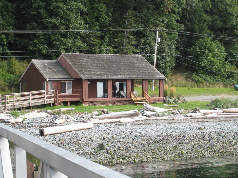 Here's our new place - the Wharf House on Quadra Island - we loved it!