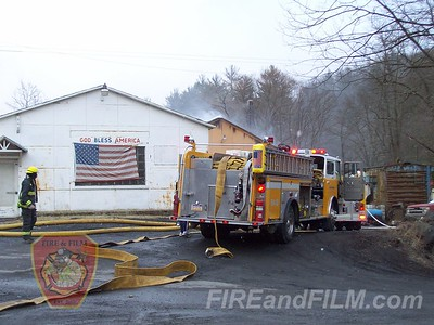 Schuylkill County - Blythe Twp. - Garage Fire - 2/24/2013