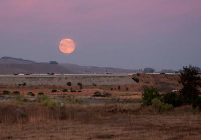 McNear Peninsula at Sunset/Moonrise  8/14
