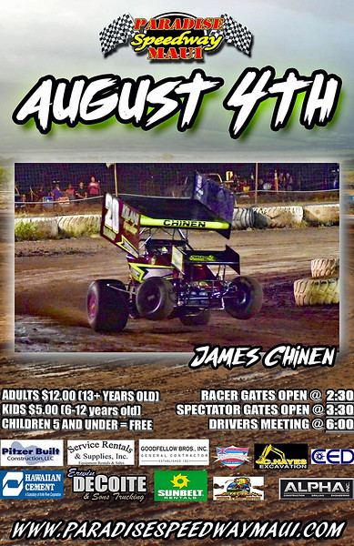 August 4, 2018 Dirt Oval Action at Paradise Speedway