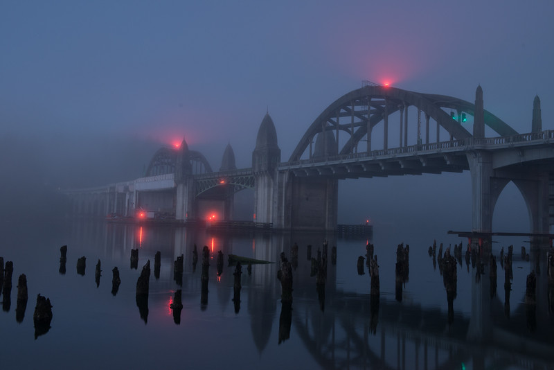 Gothic Bridge in the fog...