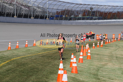 3.0 Mile Mark, D2 Girls - 2014 MHSAA LP XC Finals