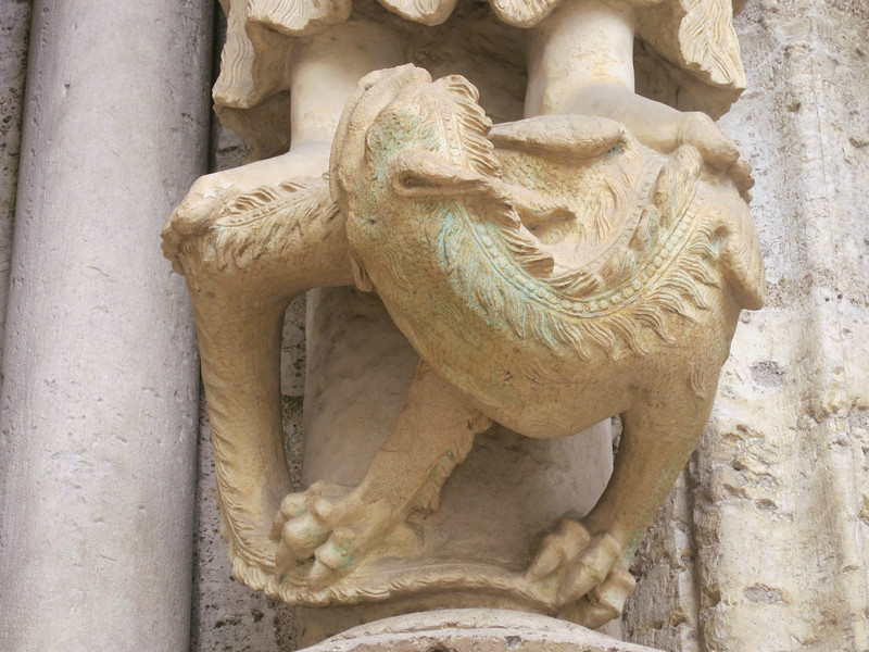 Chartres Cathedral North Porch Dragon
