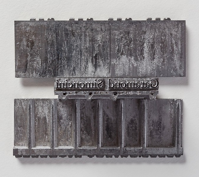Type cast with a Linotype machine