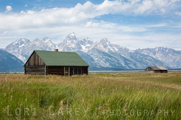 Bunkhouse at John Moulton Homestead, Mormon Row Historic District, Grand Teton National Park, Wyoming