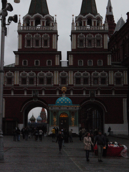 Now back to the entrance to Red Square (having made the full loop around through the mall).