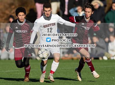 11/14/2018 - Boys Varsity Soccer - NEPSAC Class B Quarterfinal - Groton vs Middlesex