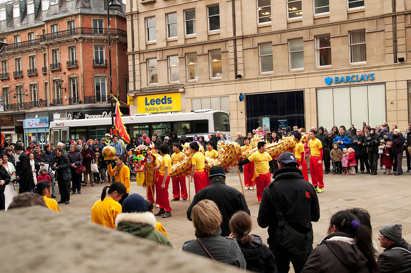 Chinese New Year celebrations in Sheffield. UK