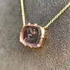 'INV My Letter' Pale Pink Glass Rebus Pendant, by Seal & Scribe 26