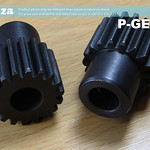 SKU: P-GEAR/L, Two Gears in a Set of 8mm Shaft 18 Teeth