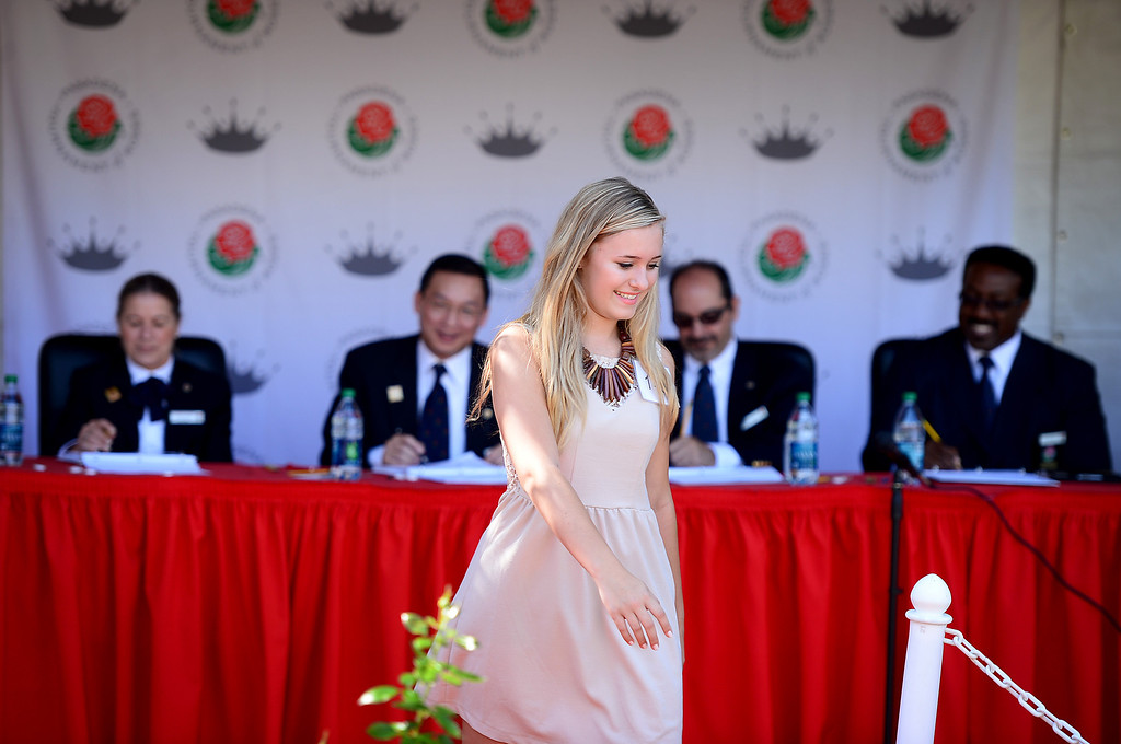 . The Tournament of Roses holds their annual Royal Court Tryouts Saturday, September 14, 2013 at the Tournament House in Pasadena for the 125th Rose Parade. A thousand young women from the Pasadena area schools are expected to tryout. Tryouts continue Monday from 3 to 5 p.m.   (Photo by Sarah Reingewirtz/Pasadena Star-News)