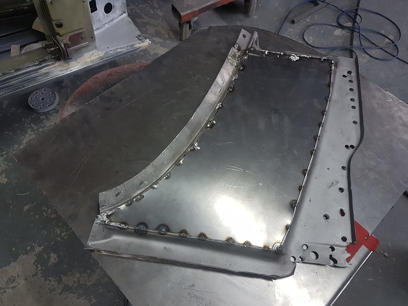Upper scuttle panel re-manufactured