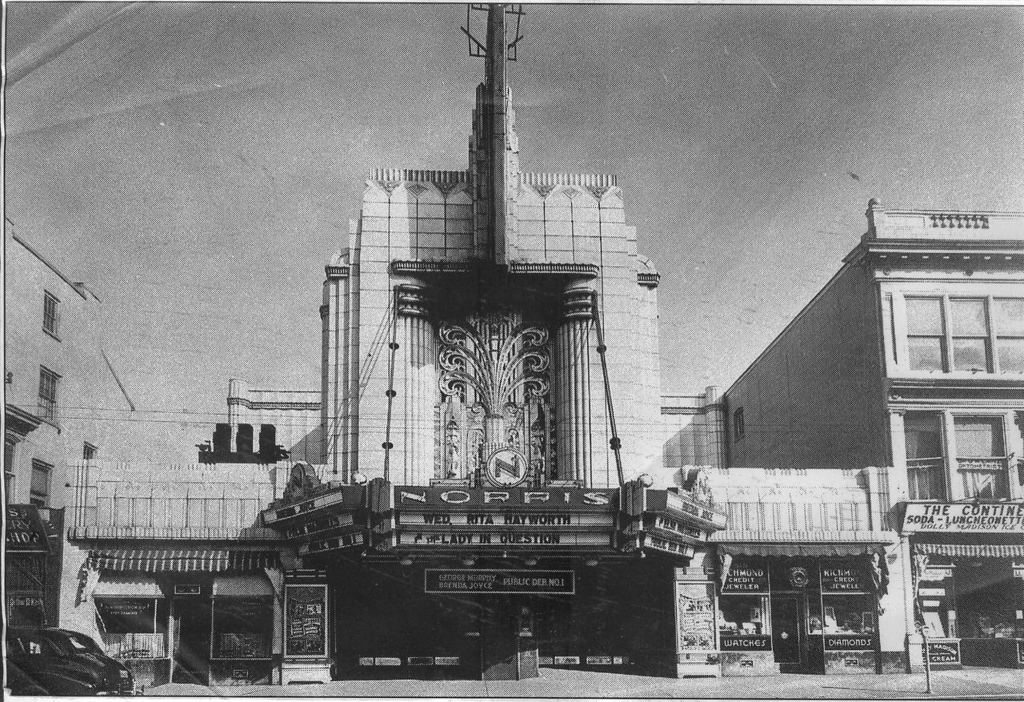 . This Times Herald file photo shows the Norris Theatre at 125 W. Main Street in Norristown circa 1940. It opened on Dec. 22, 1930 and was demolished in March 1983. It is now a public parking garage.