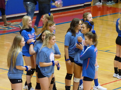 Senior Night for Volleyball Shelby