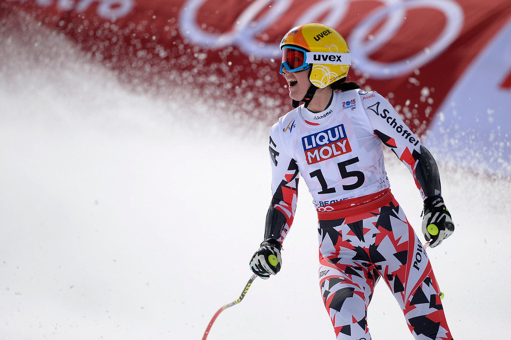 . BEAVER CREEK, CO - FEBRUARY 03: Cornelia Huetter of Switzerland competes during the the ladies\' super-G finals. FIS Alpine World Ski Championships 2015 on Tuesday, February 3, 2015. (Photo by AAron Ontiveroz/The Denver Post)