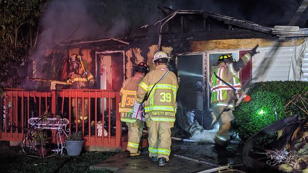 House Fire - Appleville Rd - West Bradford