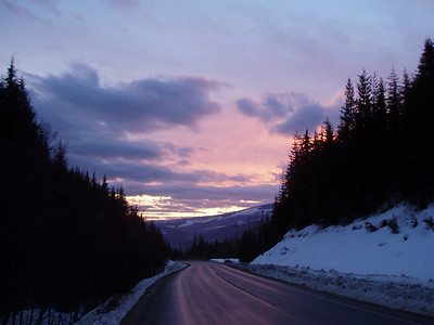Sunsets on the Highway, Feburary 2005