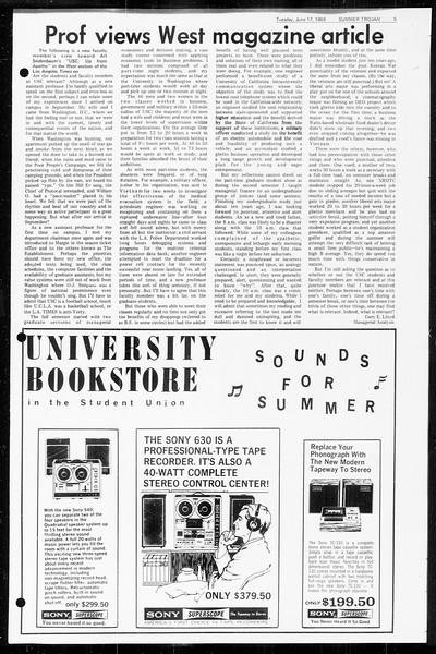 Summer Trojan, Vol. 60, No. 1, June 17, 1969