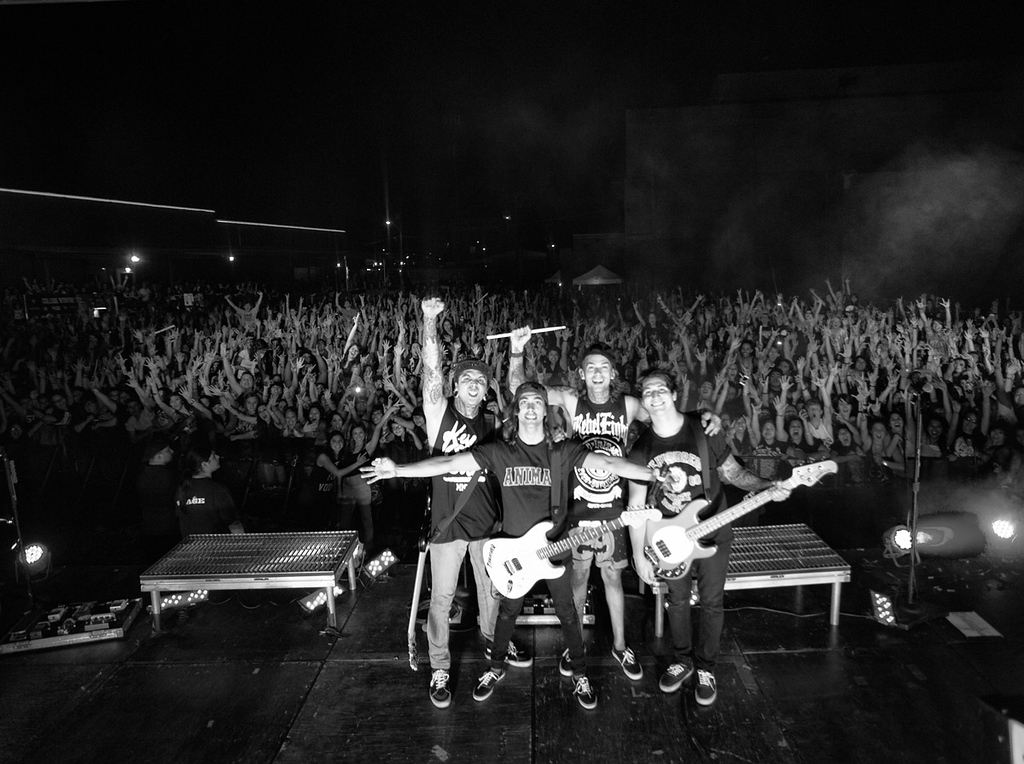 Pierce The Veil with their fans at Backstage Live in San Antonio, Texas