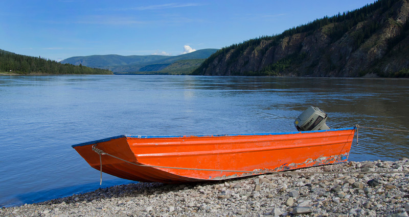 The Yukon River at Dawson City, NT.