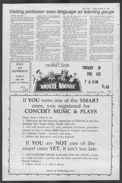 Daily Trojan, Vol. 88, No. 5, February 08, 1980