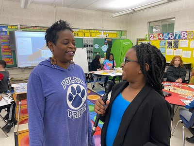 Carney visits Pleasantville for NBA Math Hoops
