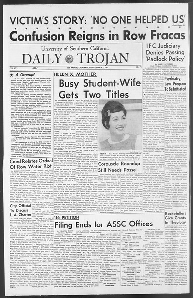 Daily Trojan, Vol. 54, No. 75, March 05, 1963