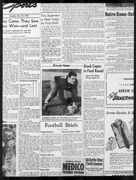 Daily Trojan, Vol. 34, No. 47, November 24, 1942