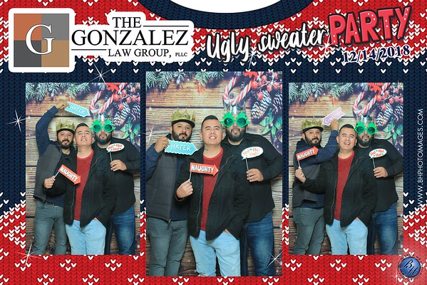 Gonzalez Law Group Ugly Sweater Photobooth