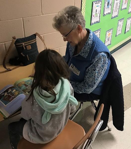 Patsy Wampole volunteering at New Hanover Elementary reading program.jpg