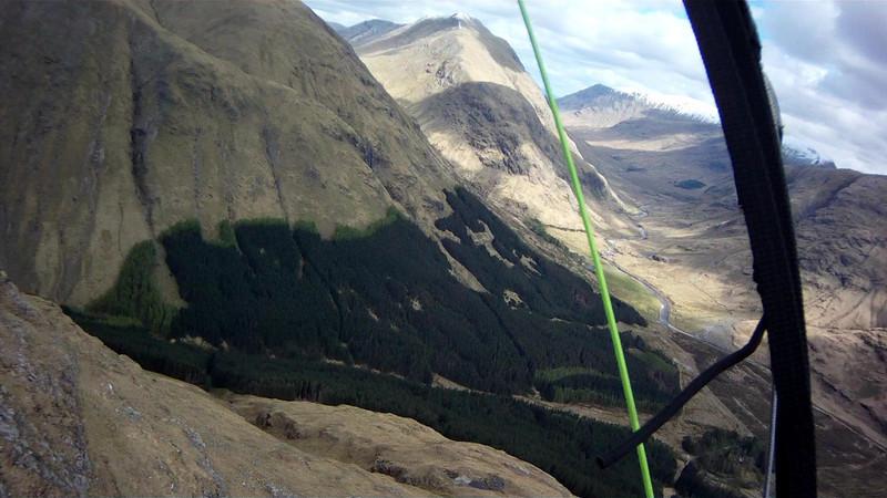 Looking back up Glen Etive; climb getting better.