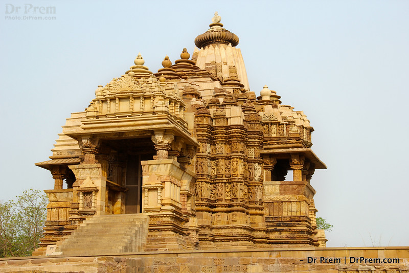 It is famous Devi Jagadamba temple or Devi Jagdambika temple of khajuraho. Womb of the temple has an enormous image of goddess Devi Duga.