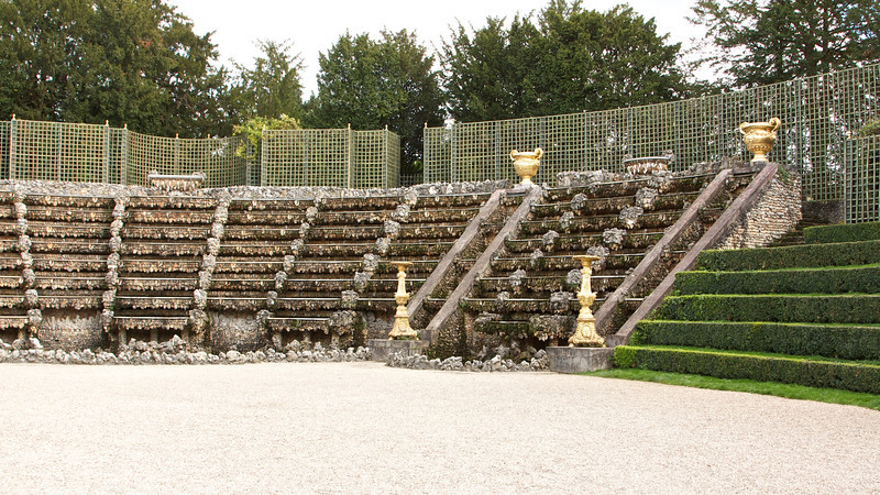 Bosquet de la Salle de Bal. This was decorated with shells brought back by French Soldiers from the Indian Ocean