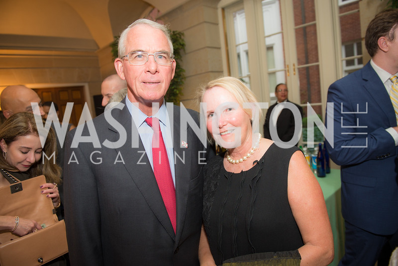 Congressman Francis Rooney, Kathleen Rooney,50th Annual Meridian Ball Leadership Committee Reception at the Blair House, co-hosted with Ambassador Sean P. Lawler.  September 13, 2018, Photo by Ben Droz.