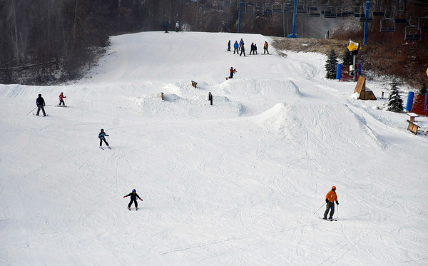 1/12/2019 Mike Orazzi | Staff Mount Southington Ski Area on Mt Vernon Road in Plantsville Saturday.
