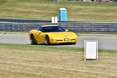 2020 SCCA TNiA July 29 Pitt Race Adv Yellow Vette