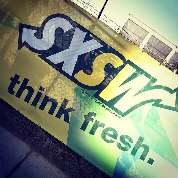 A creative logo execution. #sxsw
