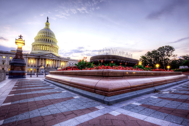 Sunset at the US Capitol