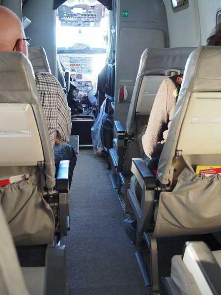 Oct. 18/13 - On the tiny plane from Red Deer airport to Calgary airport, then on to Vancouver
