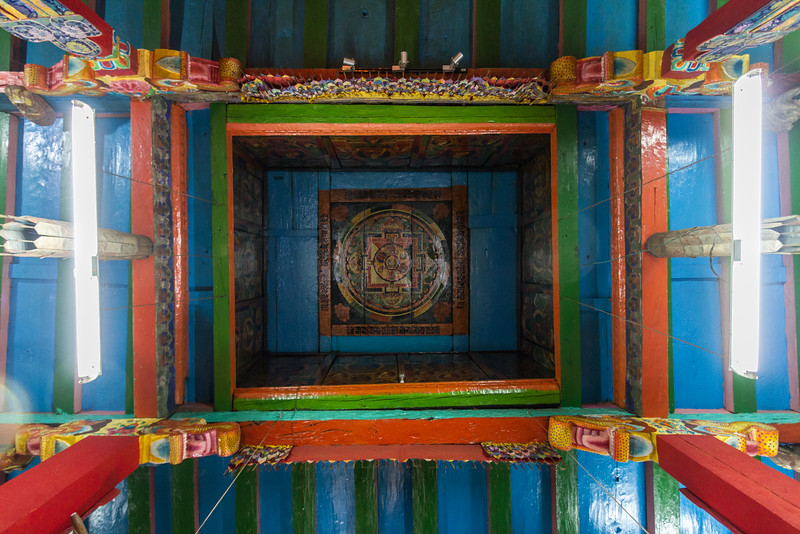 The ceiling of Khumjung Monastery in Nepal