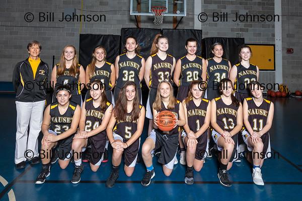 Nauset Girls JV Basketball Team and Roster 2019_2020