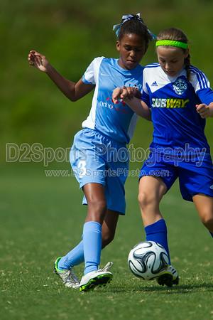 TCYSA 02 LADY TWINS BLUE vs 02 LNSC ECLIPSE COSMOS G - U12 Girls 8/17/2014