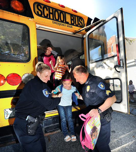 Bus safety training in Lewiston