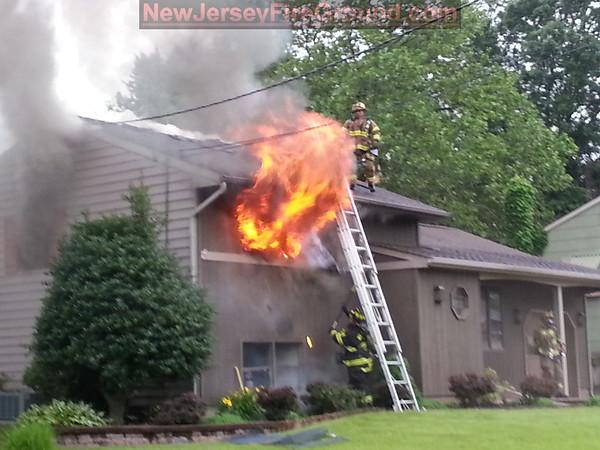 6-14-2013(Gloucester County)DEPTFORD 400 blk. College Blvd. -2nd Alarm Dwelling